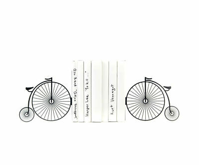 Retro vintage bike - steel bookends - 7x3.9x3.9'' (18x10x10 cm)