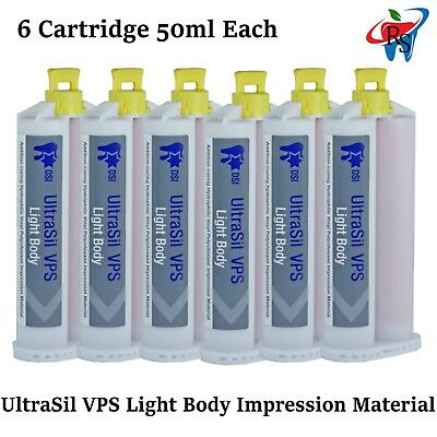 UltraSil VPS Dental Light Body Wash Impression Material 6x Automix 50ml