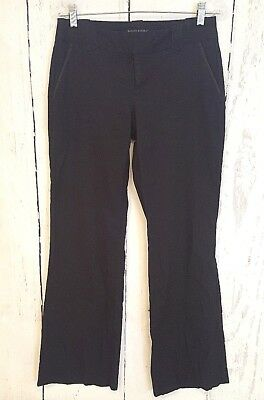 Womens Banana Republic Sz 4 Linen Pants Black Ryan Fit Dress Career Bootcut