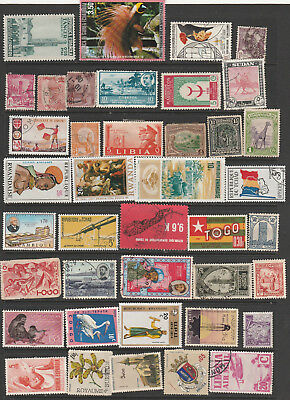 Africa Mix 42 Stamps, Used Lot B