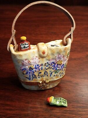 Artoria Beach Bag Limoges Trinket Box Peint Main France Rochard