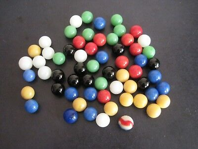 Lot of Vintage Replacement Marbles For Chinese Checkers and one shooter marble