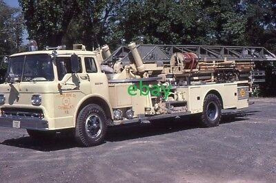 Catskill NY 1959 Ford American LaFrance 75' Aerial - Fire Apparatus Slide