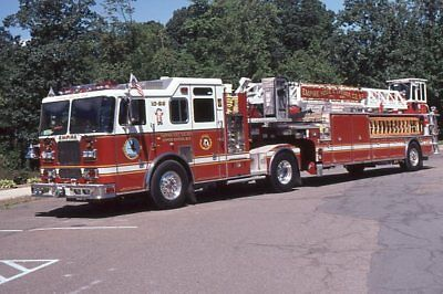 Nyack NY 2000 Seagrave 100' Tractor Drawn Aerial - Fire Apparatus Slide