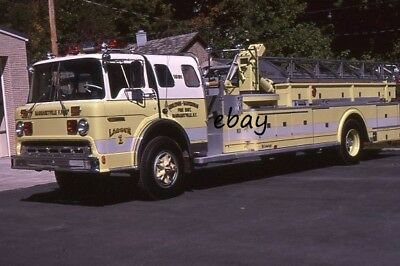 Margaretville NY 1978 Ford Maxim Young 75' Midmount Aerial  Fire Apparatus Slide