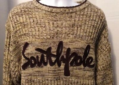 90e2ac7470 South Pole Southpole Authentic Collection Mens Large Sweater Thick Warm  Vintage