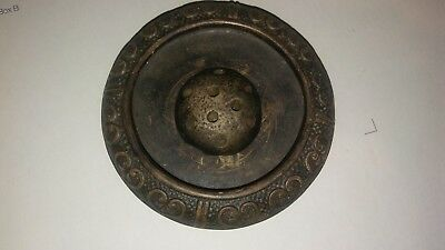 antique Tokanabe pottery (large) Bowl - with flower frog -- Look!!