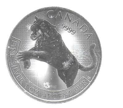 Canada 2016 $5 Commemorative 1 OZ Silver(9999) Coin Couger Gem BU