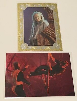 1995 SkyBox Mortal Kombat - Gold & Red Foil Samples - Rayden & Kombat