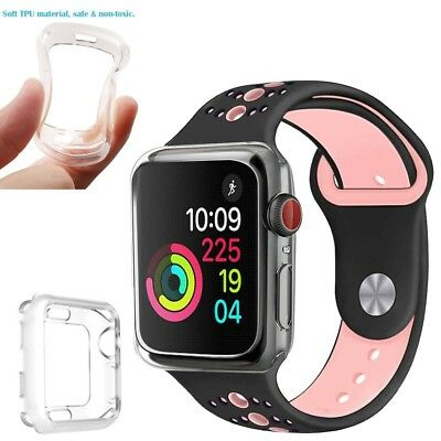 40/44mm Clear Soft TPU Case Cover Durable Protect Frame for Apple Watch Series 4