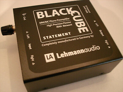 Lehmann  Black Cube Statement  MM/MC Phono Preamplifier absolut neuwertig MINT