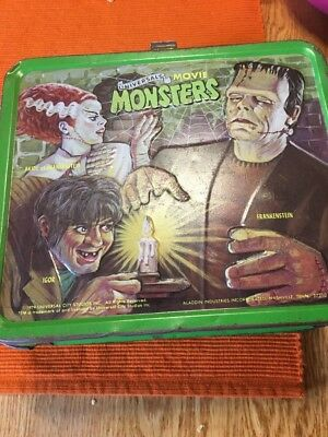 Vintage Universal Monsters Metal Lunch Box  No Thermos