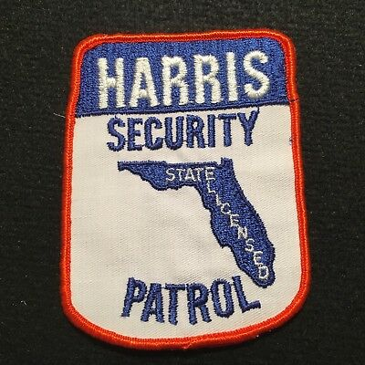 Florida - Harris Security Patrol State Licensed Patch