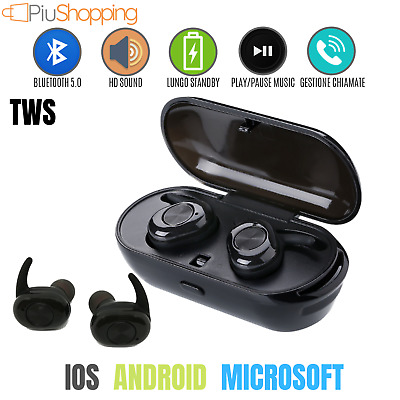 Auricolari Bluetooth 4.2 Wireless Sport Microfono Per Iphone 8 X Samsung Huawei