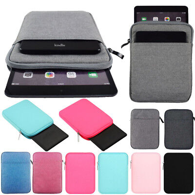 """For iPad 9.7"""" 2018 6th Generation Super Soft Zipper Sleeve Bag Case Pouch Cover"""