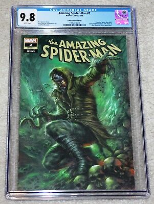 Amazing Spider-Man 2 Cgc 9.8 Lg 803 Lucio Parrillo Comicxposure Villain Variant