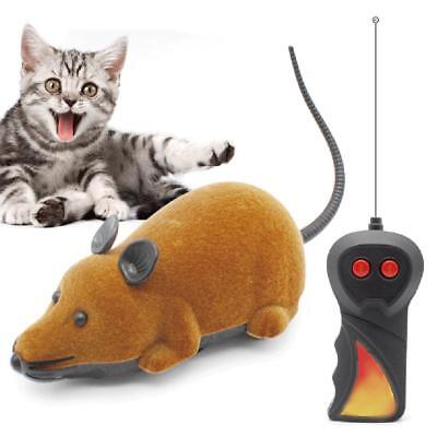 Wireless Remote Control Electric RC Rat Mouse for Pet Cat Kitten Playing Toy