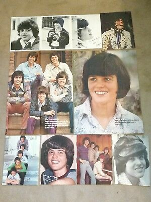 DONNY OSMOND Posters, Magazine Clippings, Photos, Pinups OSMONDS 1970's VINTAGE