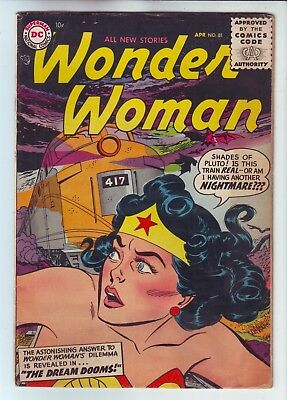 Dc Comics Wonder Woman #81 In Vg- Condition