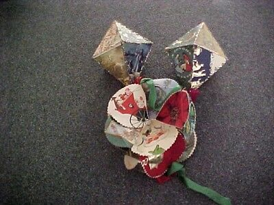 Vintage Hand Crafted  Christmas Hanging Decorations From  Cards