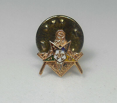 10K SOLID GOLD Antique Masonic Eastern Star Lapel Pin RARE FIND