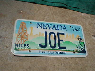 2002 NILPS Vegas Meet Vanity License Plate JOE, Joey, Joseph, Las Vegas Springs