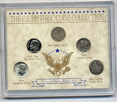 USA Plastfolder The US-Historic Coins Collection -United States Dime Set