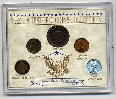 USA Plastfolder The US-Historic Coins Collection -United States Penny Set