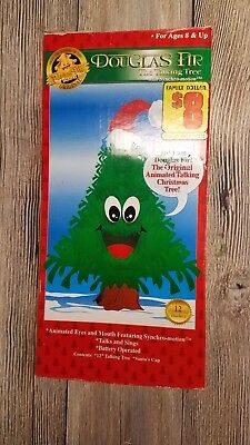 NEW Douglas Fur Vintage Talking Animated Christmas Tree Motion Activated Sound