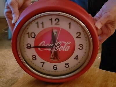 coca cola clock wall, battery operated,