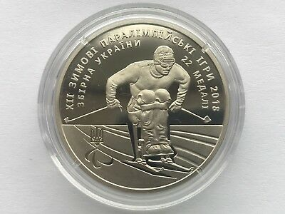 Ukraine 2 griven XII Winter Paralympic Games 2018 year  Nickel coin