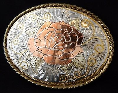 Gürtelschnalle  Rodeo Beltbuckle  Rose  Made in USA