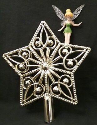 Disney Tinkerbell Tinker bell Fairy Christmas Tree Topper Ornament NEW Star top