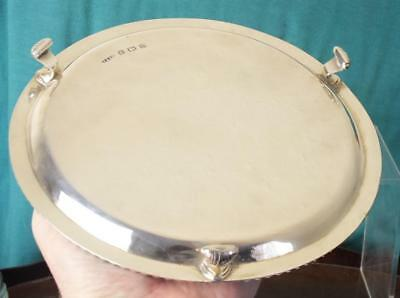 Solid Silver Three Footed Salver / Waiter - Bham 1944 - Thomas Ducrow & Sons