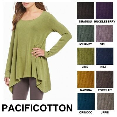 PACIFICOTTON Bryn Walker Pacific Cotton CHARLES SHIRT Tails Top 1X-3X FALL 2018