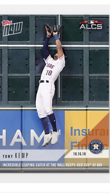 2018 Topps Now Alcs Card Game #3 Astros Tony Kemp #893 Incredible Leaping Catch