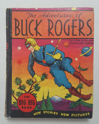 Adventures of Buck Rogers 1934 Whitman Big Book 4057 Rare Illustrated Uncolored