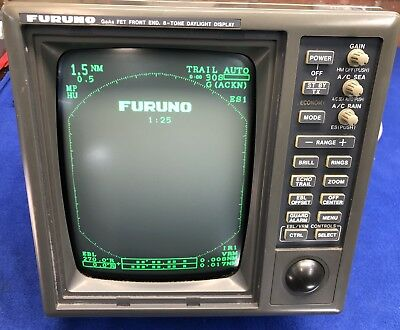 "Furuno RDP-104 1831 10"" CRT Radar Display, Good Condition, 90 Day Warranty"