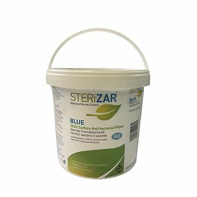 Sterizar Multi Surface Antibacterial Wipes - Alcohol Free. Kills Norovirus