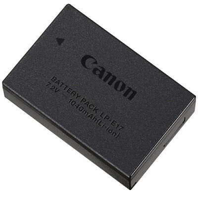Genuine OEM Canon - LP-E17 Lithium-Ion Battery - Black - 1040 mAh (7.2v) - VG