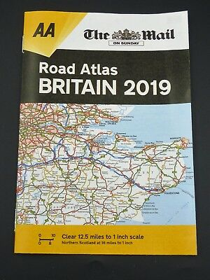 The Mail On Sunday AA Road Atlas Britain 2019 Booklet