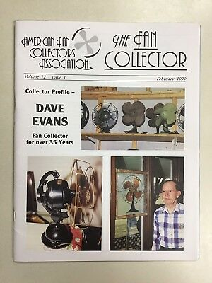 The FAN COLLECTOR NEWSLETTER Magazine February 1999  ~ Antique Fans