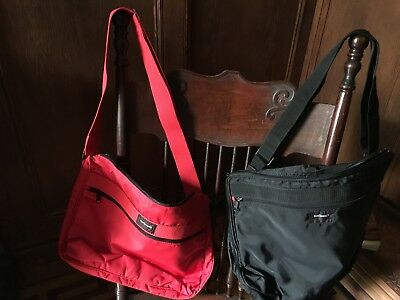 Set of 2 Airline travel bags  SWISSAIR (1 Black & 1 Red)