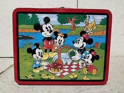 1997 Disney Series 2 Mickey Mouse and Friends Metal Lunchbox