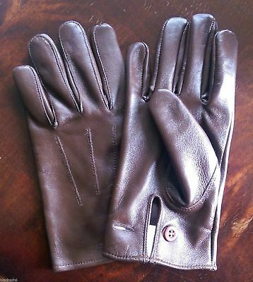 British Army Officers Warrant Officer Brown leather Gloves New Various Sizes