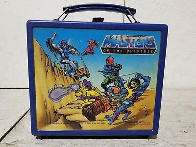 Vintage Aladdin 1983 Masters of the Universe Plastic Lunchbox with Thermos