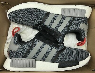 brand new da2db 629a5 Adidas NMD R1 Glitch Camo Black Grey White Red BB2884 Sz 10.5