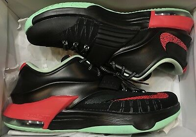 big sale 929ef 27bee Nike KD VII 7 Bad Apple Black Red Mint Green 653996-063 Sz 10.5