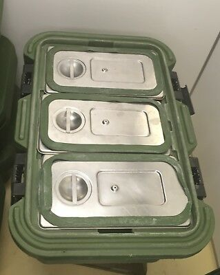 Cambro UPCS180 Food Carrier with stainless inserts and seals mfg #7360014198500