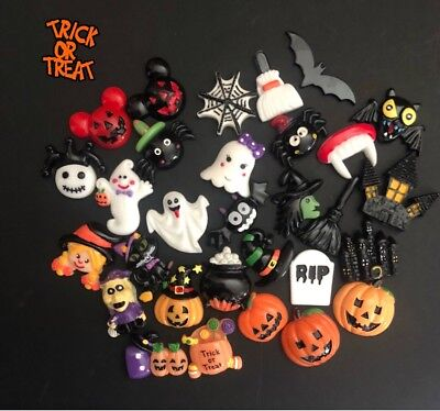Resin Flatback Halloween Cabochons Slime Charms Decoden Fun | 20 Pieces